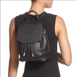 Rag & Bone Mini Pilot Backpack Black Leather
